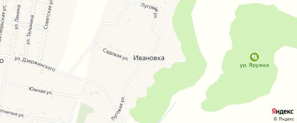 Луговая улица на карте хутора Ивановки с номерами домов