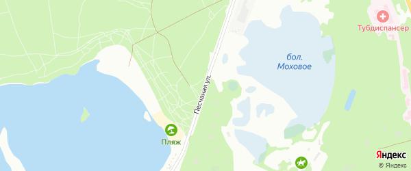 Песчаная улица на карте Белгорода с номерами домов