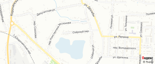 Озерный переулок на карте Белгорода с номерами домов