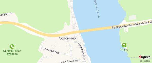 Привольная улица на карте села Соломино с номерами домов