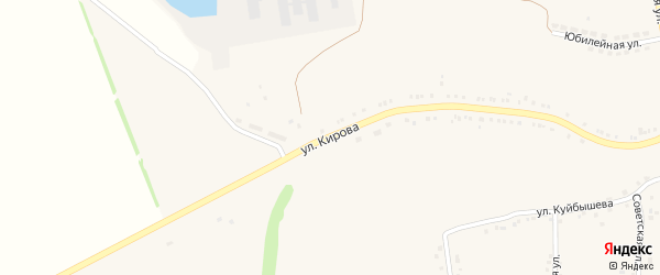 Улица Кирова на карте села Гостищево с номерами домов