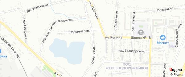 Озерная улица на карте Белгорода с номерами домов