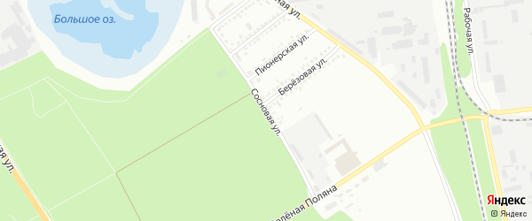 Сосновая улица на карте Белгорода с номерами домов