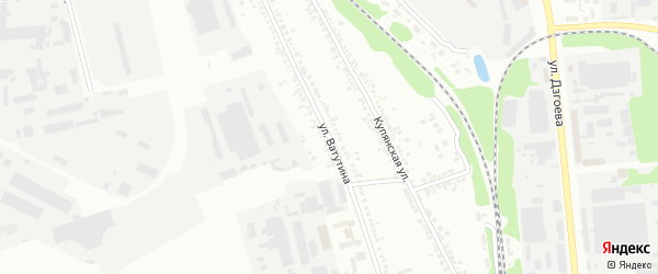 Улица Ватутина на карте Белгорода с номерами домов