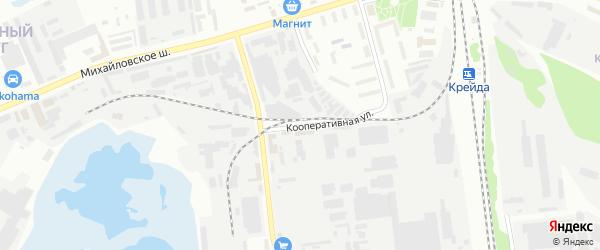 Кооперативная улица на карте Белгорода с номерами домов