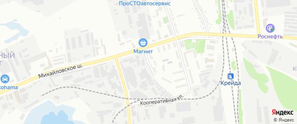 Михайловский проезд на карте Белгорода с номерами домов