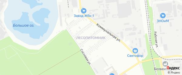 Пионерская улица на карте Белгорода с номерами домов