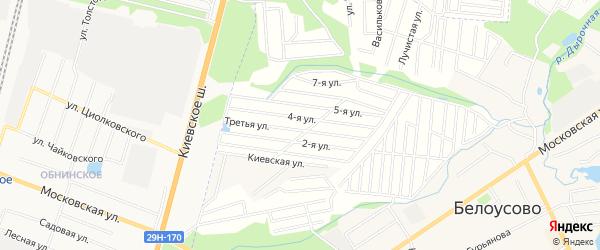 Карта садового некоммерческого товарищества Ромашки города Майкопа в Адыгее с улицами и номерами домов