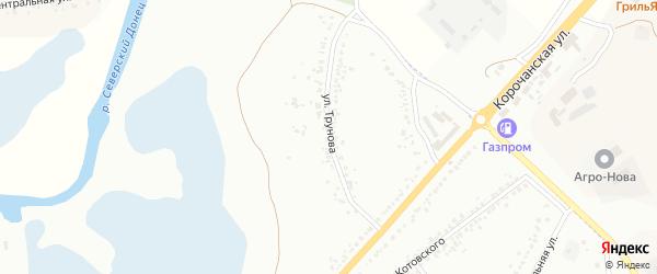Улица Трунова на карте Белгорода с номерами домов