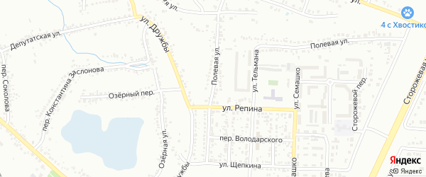 Улица Володарского на карте Белгорода с номерами домов