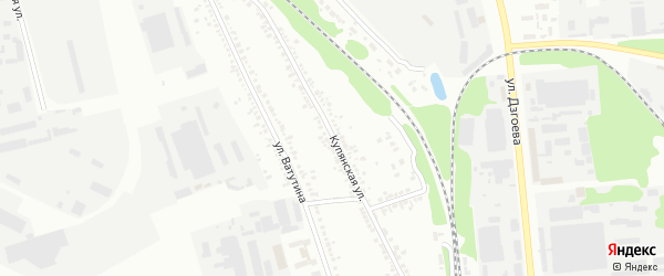 Купянская улица на карте Белгорода с номерами домов