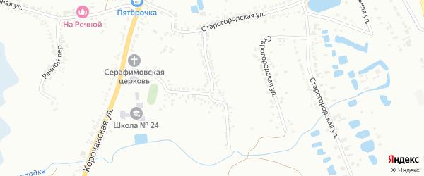 Старогородский переулок на карте Белгорода с номерами домов