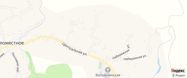 Луговой переулок на карте Беломестного села с номерами домов
