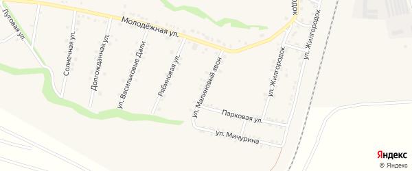 Улица Малиновый звон на карте села Гостищево с номерами домов