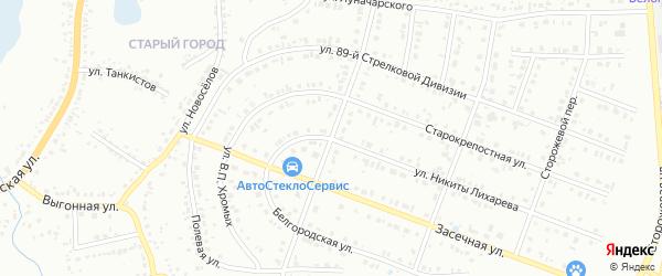 Драгунская улица на карте Белгорода с номерами домов