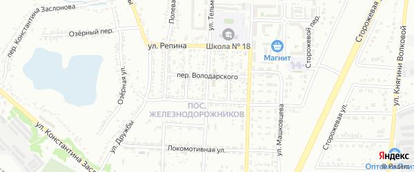 Улица Тельмана на карте Белгорода с номерами домов