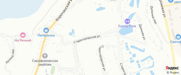 Старогородская улица на карте Белгорода с номерами домов