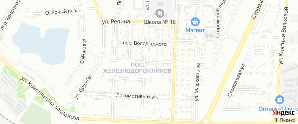 Улица Щепкина на карте Белгорода с номерами домов