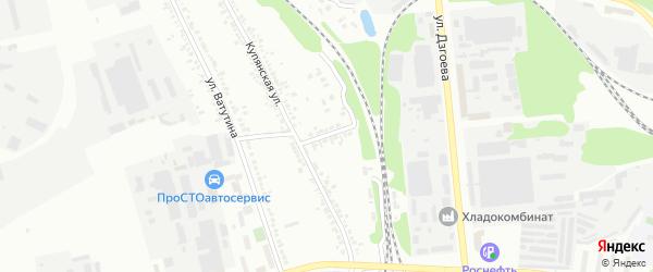 Купянский переулок на карте Белгорода с номерами домов