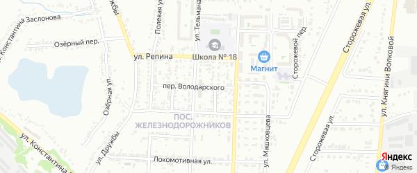 Переулок Володарского на карте Белгорода с номерами домов