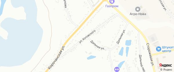 Улица Котовского на карте Белгорода с номерами домов