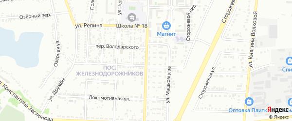 Улица Семашко на карте Белгорода с номерами домов