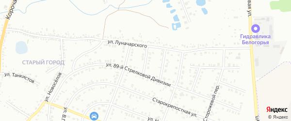 Порубежный 4-й переулок на карте Белгорода с номерами домов