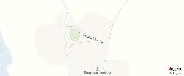 Улица Богатый хутор на карте села Лески с номерами домов
