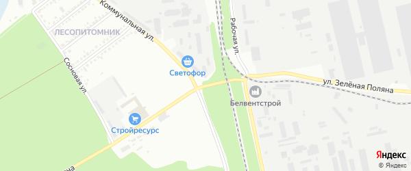 Улица Зеленая Поляна на карте Белгорода с номерами домов