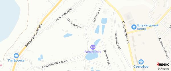 Дальняя улица на карте Белгорода с номерами домов
