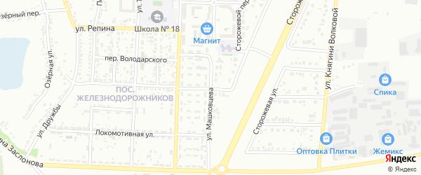 Улица Машковцева на карте Белгорода с номерами домов