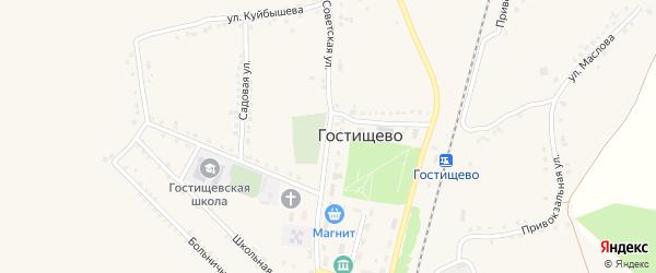 Советская улица на карте села Гостищево с номерами домов