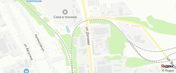 Улица Дзгоева на карте Белгорода с номерами домов