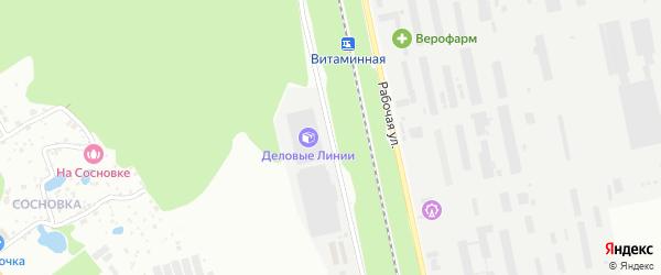 Коммунальная улица на карте Белгорода с номерами домов