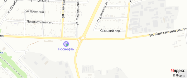 Улица Константина Заслонова на карте Белгорода с номерами домов