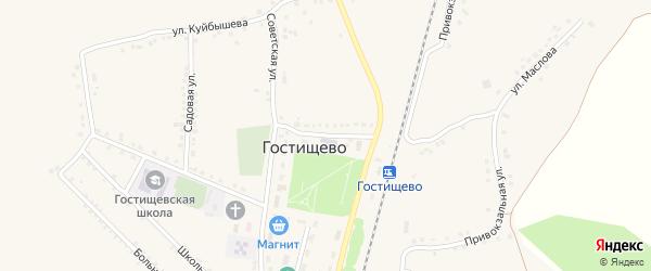 Почтовая улица на карте села Гостищево с номерами домов