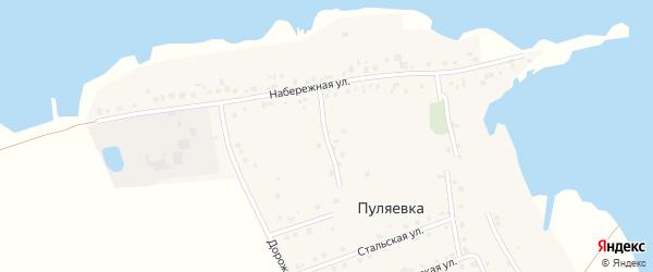 Приозерный переулок на карте села Пуляевки с номерами домов