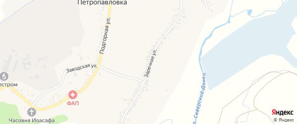 Заречная улица на карте села Петропавловки с номерами домов