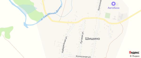 Набережная улица на карте села Шишино с номерами домов