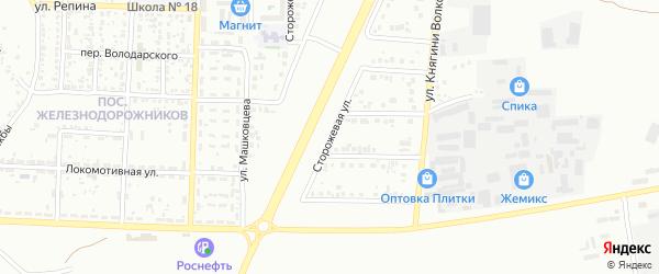 Сторожевая улица на карте Белгорода с номерами домов