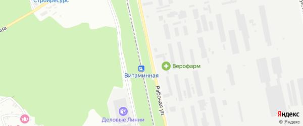Рабочая улица на карте Белгорода с номерами домов