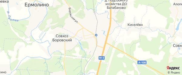 Карта Балабаново с районами, улицами и номерами домов