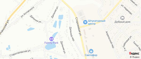 Дальний переулок на карте Белгорода с номерами домов