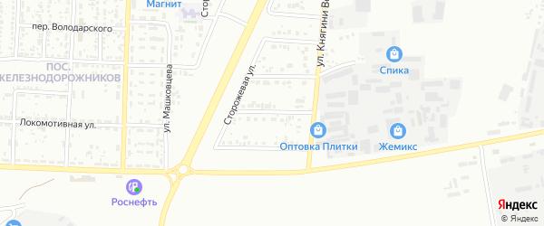 Слободской 1-й переулок на карте Белгорода с номерами домов