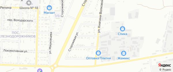 Слободской 2-й переулок на карте Белгорода с номерами домов