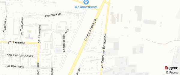 Слободской 4-й переулок на карте Белгорода с номерами домов