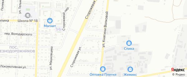Слободской 3-й переулок на карте Белгорода с номерами домов