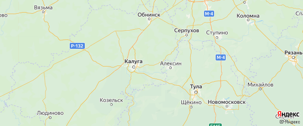 Карта Ферзиковского района Калужской области с городами и населенными пунктами