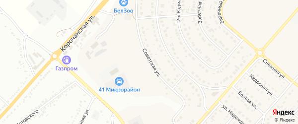 Советская улица на карте Новосадового поселка с номерами домов
