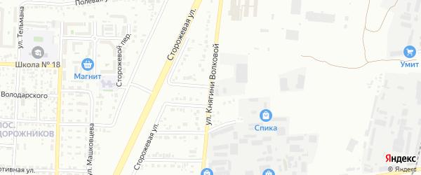 Улица Княгини Волковой на карте Белгорода с номерами домов